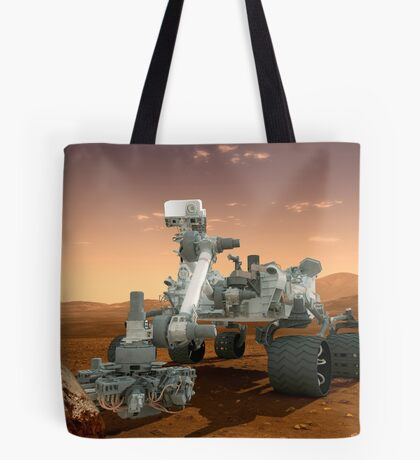 Künstler-Konzept der NASA Mars Science Laboratory Curiosity Rover. Tote Bag