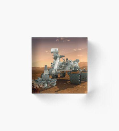 Künstler-Konzept der NASA Mars Science Laboratory Curiosity Rover. Acrylblock