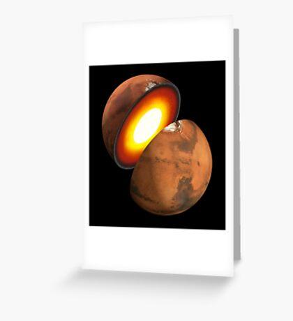 Das Konzept des Künstlers der Bildung von felsigen Körpern im Sonnensystem. Grußkarte