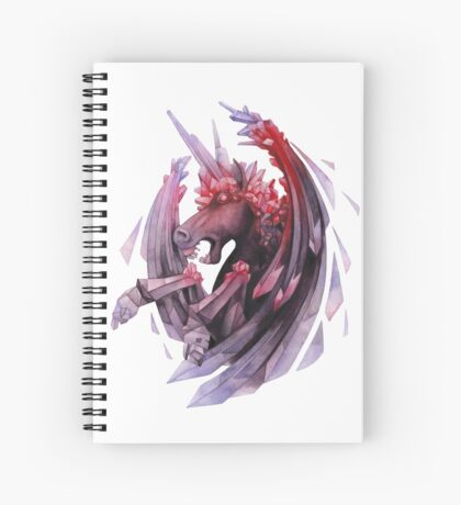 Watercolor crystallizing demonic horse Spiral Notebook