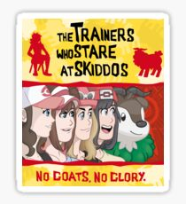 The Trainers Who Stare At Skiddos IV Sticker
