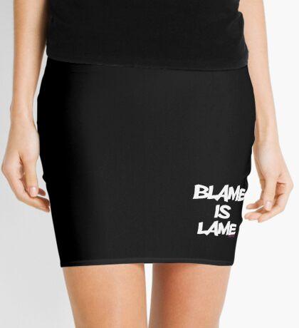 BLAME IS LAME! (white) Mini Skirt