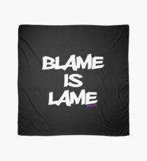 BLAME IS LAME! (white) Scarf