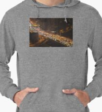 Traffic on Bridge - tilt shift Lightweight Hoodie