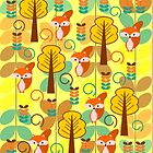 Foxes in the forest by cocodes
