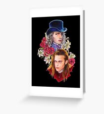 a fanart of Luis and Lestat Greeting Card