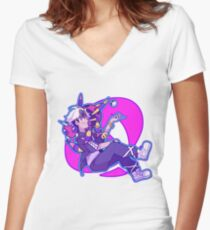 TEAM SKULL BOSS GUZMA Women's Fitted V-Neck T-Shirt