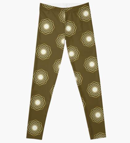 Many hearts - Gold Phi Spiral Leggings