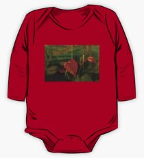 Exotic Tropical Dream Garden - Hot Red Hearts and Sea Creatures One Piece - Long Sleeve