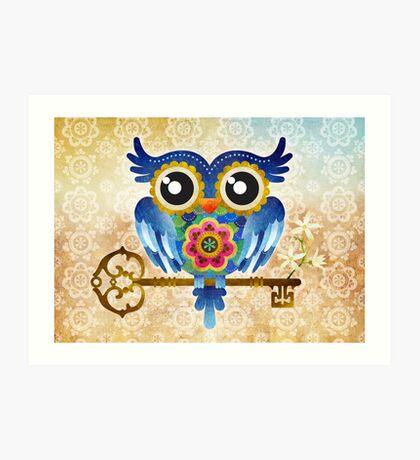 Spring Guardian Owl Art Print