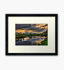 River Laune Sunset Framed Print