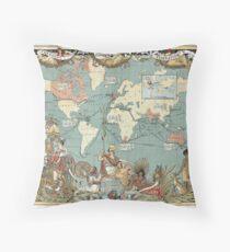 The British Empire 1886 Throw Pillow