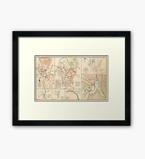 Civil War Battlefield Maps from 1895 Framed Print