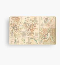 Civil War Battlefield Maps from 1895 Canvas Print