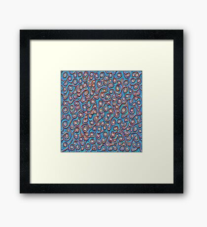 Out of the frost #DeepDream #Art Framed Print