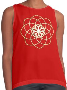 Many hearts, Much Joy! - Gold Phi Spiral Contrast Tank