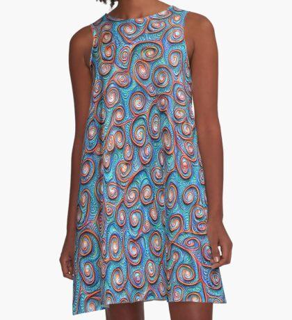 Out of the frost #DeepDream #Art A-Line Dress