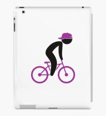 A cyclist doing tricks on his bike iPad Case/Skin