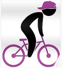 A cyclist doing tricks on his bike Poster