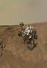 Selbstporträt von Curiosity Rover auf der Oberfläche des Mars. von StocktrekImages