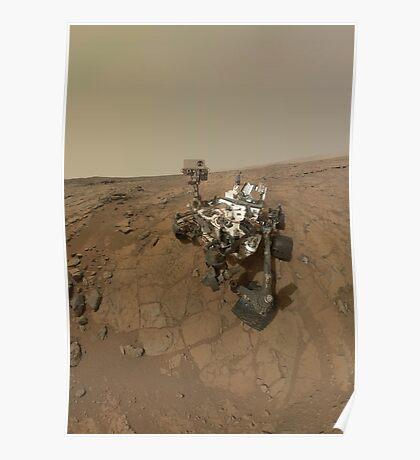 Selbstporträt von Curiosity Rover auf der Oberfläche des Mars. Poster