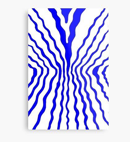 Flow - blue Metal Print