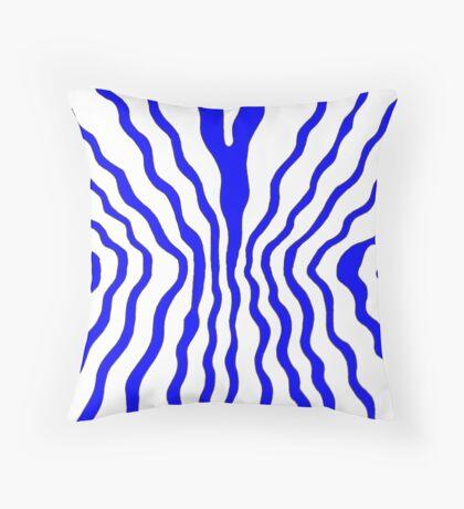 Flow - blue Throw Pillow
