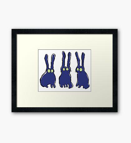 3 bunnies Framed Print
