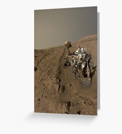 NASAs Curiosity Mars-Rover auf dem Planeten Mars. Grußkarte