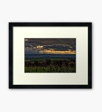 Crepuscular Rays Framed Print
