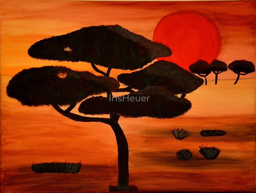 African sunset painting by IrisHeuer