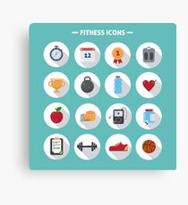 Fitness icons Canvas Print