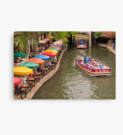 San Antonio Riverwalk - Paseo Del Rio Canvas Print