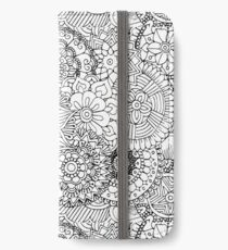 Black and white iPhone Wallet/Case/Skin