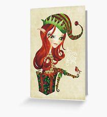 Elfie Elf Greeting Card
