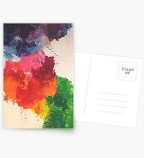 Blotched colours Postcards