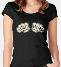 Jiu jitsu Knuckle Tattoo - BJJ & Jiu-jitsu Women's Fitted Scoop T-Shirt