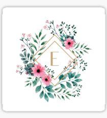 Watercolor E Sticker