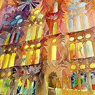 Sagrada Familia Barcelona interior by Maja Wrońska