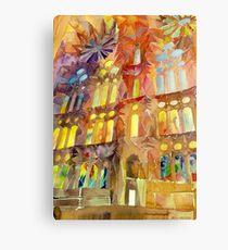 Sagrada Familia Barcelona interior Canvas Print