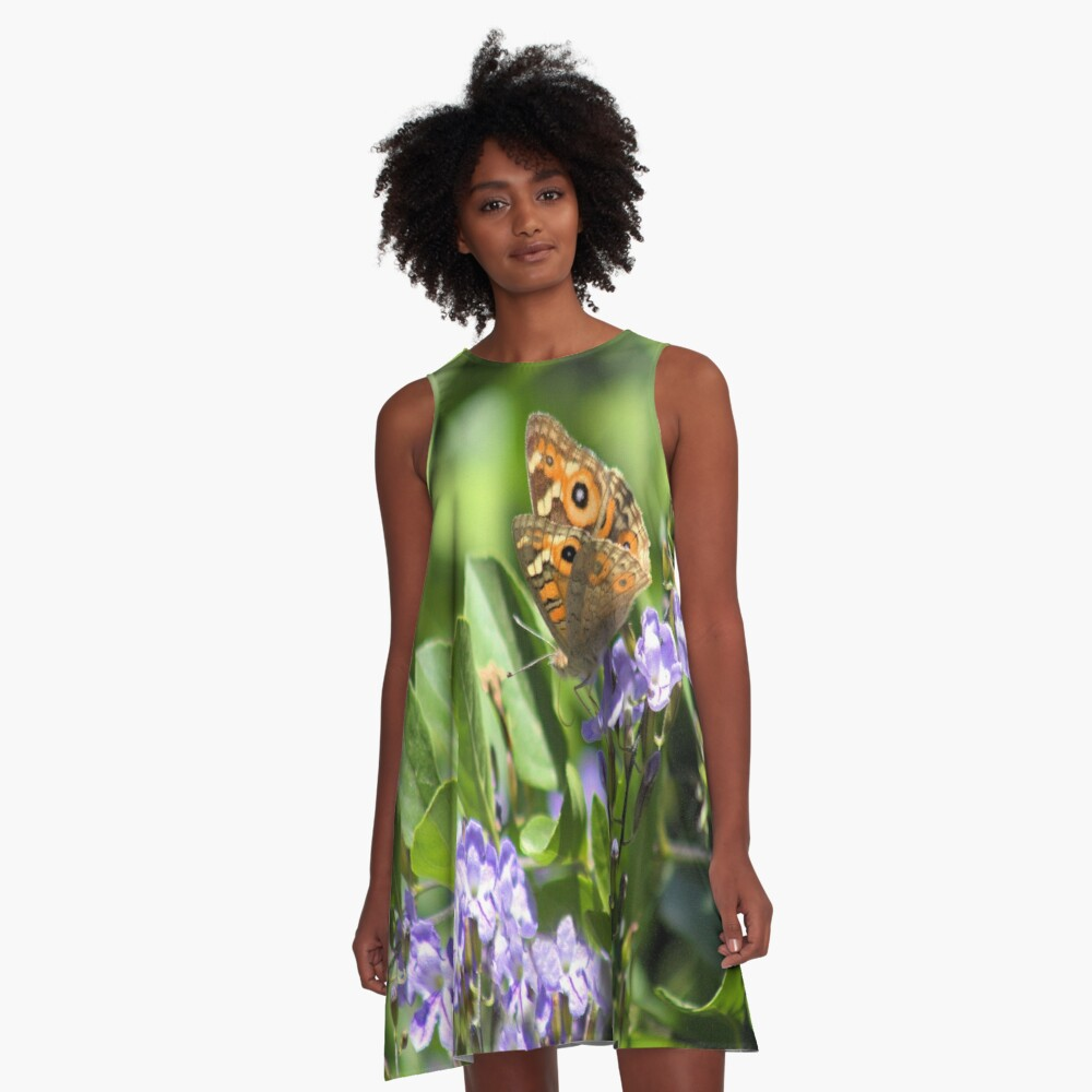 A Beautiful Butterfly A-Line Dress Front