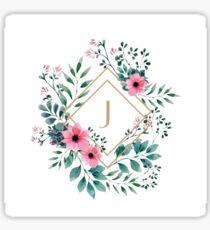 Watercolor J Sticker