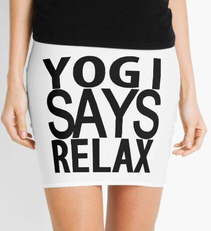 YOGI SAYS RELAX Mini Skirt