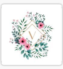 Watercolor V Sticker