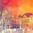 sunset in Poznan by Maja Wrońska