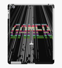 Gamer - Retro Arcade Pixel Text iPad Case/Skin