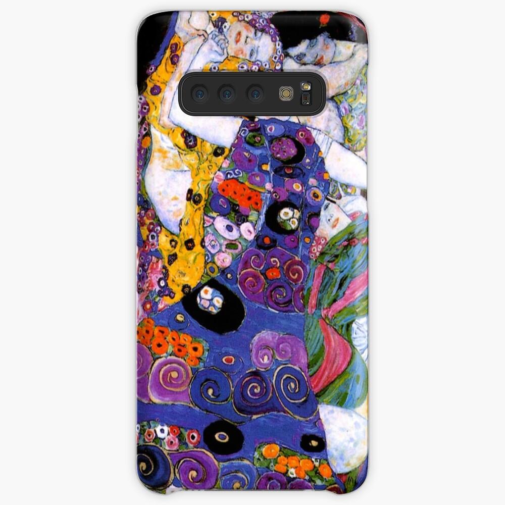 Die Jungfrau von Gustav Klimt Fine Art Hülle & Klebefolie für Samsung Galaxy