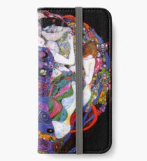 The Virgin by Gustav Klimt Fine Art  iPhone Wallet/Case/Skin