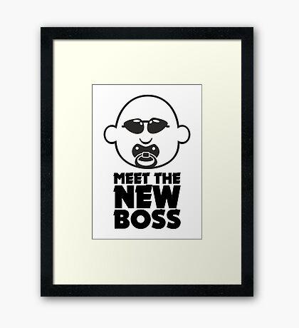 Meet The New Boss VRS2 Framed Print