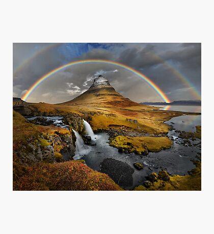 Rainbow over Kirkjufell Photographic Print
